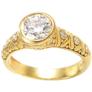 Alex Sepkus 18k Yellow Gold 1ct TDW Bezel-set Diamond Ring (H-I, SI1-SI2)