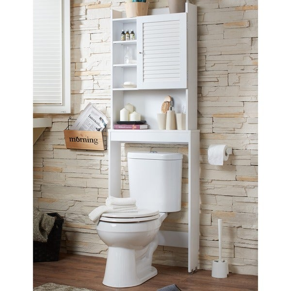 Furniture of america sylvia modern white space saver - Space saver furniture for bathroom ...
