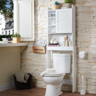 Furniture of America Sylvia Modern White Space Saver Cabinet
