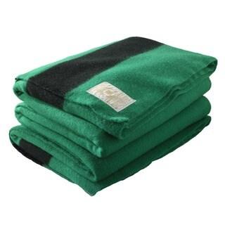 Woolrich Hudson's Bay 4-point Green Blanket