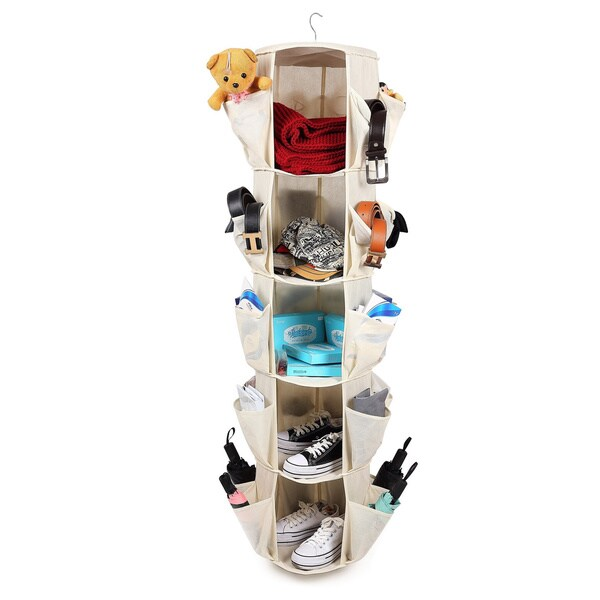 Sorbus Carousel Closet Organizer, 5-Tier, Beige