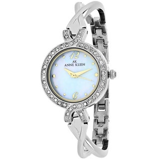Anne Klein Women's 10-9693MPTT Classsic Round Silvertone Stainless Steel Bracelet Watch