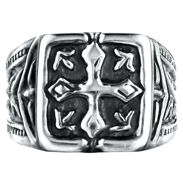 Cobalt Men's 9mm Cross Ring
