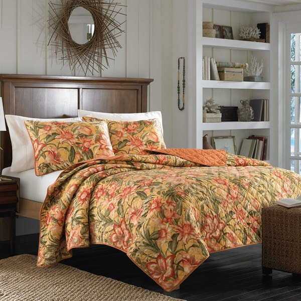 Tommy Bahama Tropical Lily Reversible Quilt