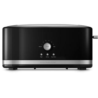 KitchenAid KMT4116OB Onyx Black 4-slice Long Slot Toaster with Peek & See