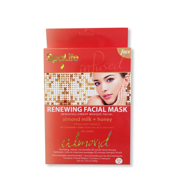 Spa Life Renewing Almond milk Honey Facial Masks (2 Treatments)
