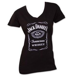 Women's Jack Daniels Black V-Neck T-Shirt