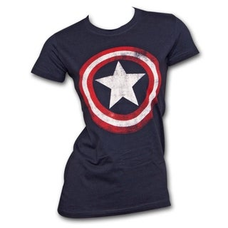 Women's Captain America Shield Marvel Logo Costume T-Shirt