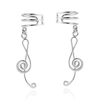 My Melody Treble Clef Music Note .925 Silver Ear Cuff (Thailand)