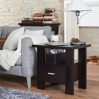 Furniture of America Weylis Cappuccino 1-drawer End Table