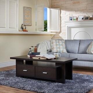 Furniture of America Weylis Cappuccino 2-drawer Coffee Table