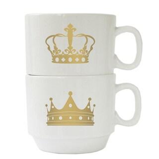 Crown White Mug (Set of 2)