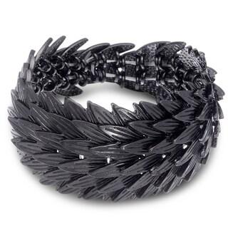 Gunmetal Leaf Stretch Bracelet, Fits Wrist Sizes 7-8