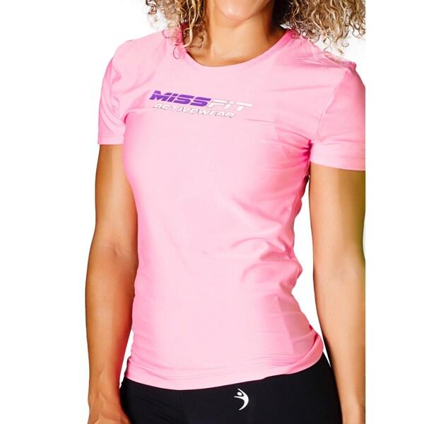 MissFit Activewear Pink Logo Athletic Top 16053642