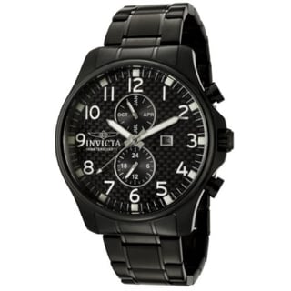Invicta Men's II Collection Black Steel Day Date GMT Watch