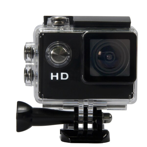 Waterproof/ Shockproof 140-degree Super Wide Angle Lens Sports Camera with 1.5-inch LCD Screen