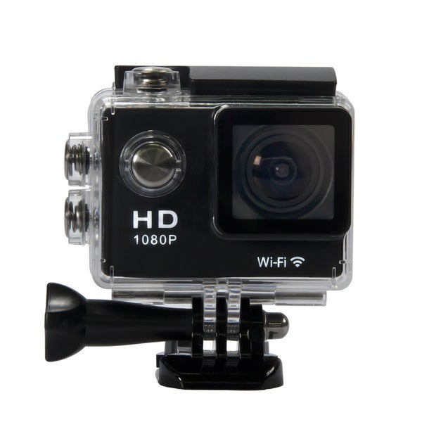 Waterproof 1080p Full HD Wi-Fi HDMI Sports Camera with 1.5-inch LCD Screen