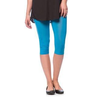 Women's Solid Summer Capri Legging (Set of 2)