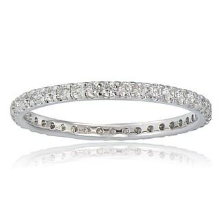 DB Designs 14K White Gold 1/2ct TDW Diamond Eternity Band Ring (G-H, I2)