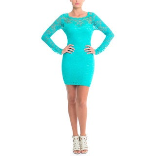 Sentimental NY Square Neck Lace Dress With 2-Way Zipper Back