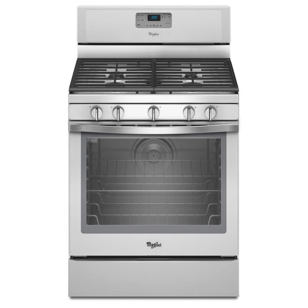 Whirlpool 30-inch Freestanding Gas Range with 5 Sealed Burners and Convection Oven