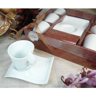 D'Lusso Designs 12-piece Biscotti Saucer Espresso Set