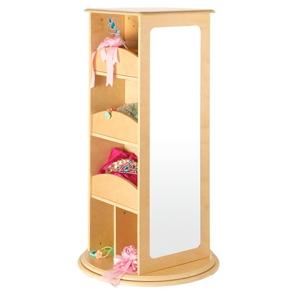 Guidecraft Natural Rotating Dress-up Storage Unit