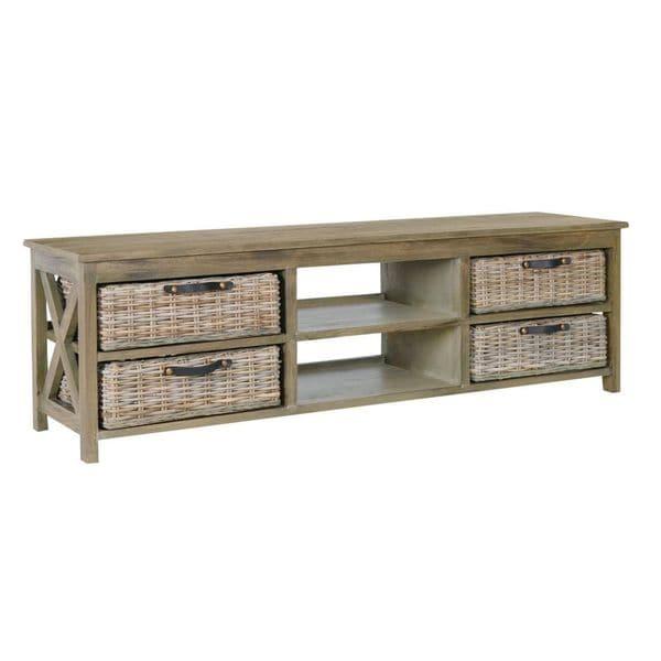 Alma Vintage Grey TV Stand