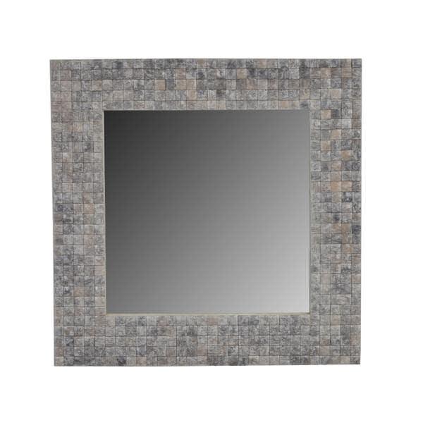 Fairview Grey Square Accent Mirror