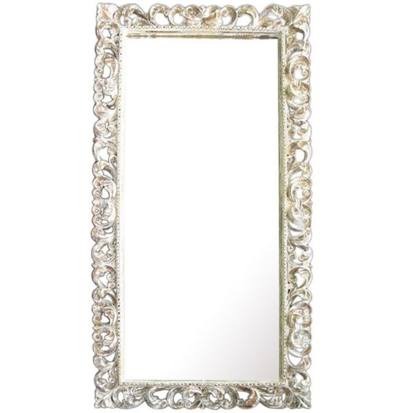 Junction White Wooden Accent Mirror