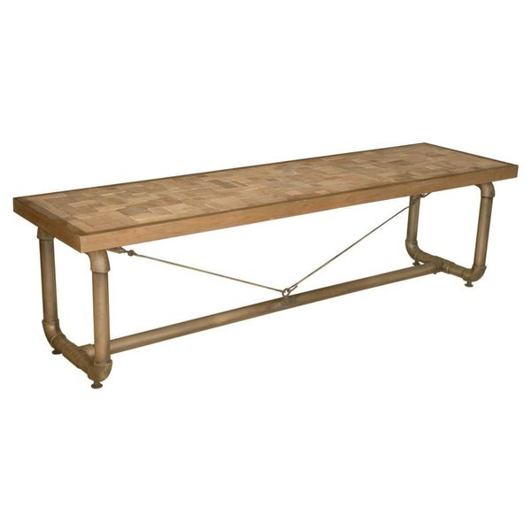 Barlow Transitional Natural Brown Bench