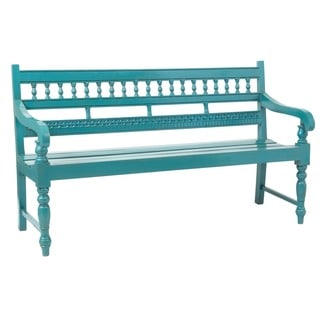 Wapato Rustic Blue Mahogany Bench