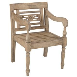 Elgin Rustic Brown Distressed Chair