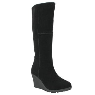 Olivia Miller 'Thompson' Knee High Patch Work Wedge Boots
