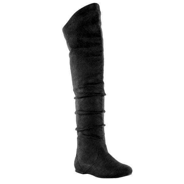 Olivia Miller 'Varick' Over the Knee Slip-On Slouchy Boots