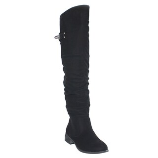 Olivia Miller 'Claremont' Over the Knee Back Lace Buckle Slouchy Boots