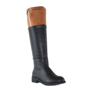 Olivia Miller 'Sutton' Knee High Two Tone Riding Boots