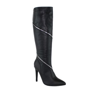 Olivia Miller 'Trinity' Knee High Wrap Around Zip High Heel Boots
