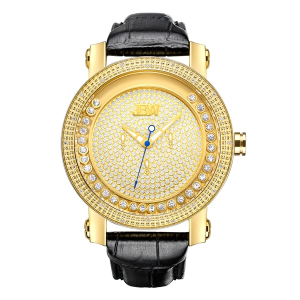 JBW Hendrix 18k Yellow Gold-plated Stainless Steel Diamond Accented Women's Watch 16054696