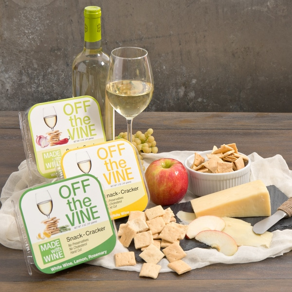 Off the Vine White Wine Snack Crackers (Set of 3)