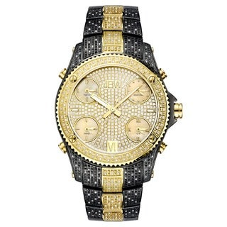 Jbw Jet Setter 18k Gold-plated Stainless Steel Case Diamond Accented Watch