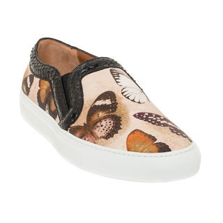 Givenchy Women's Butterfly Print Leather Skate Shoes