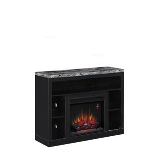 Adams 26-inch Media Mantel Coffee Black