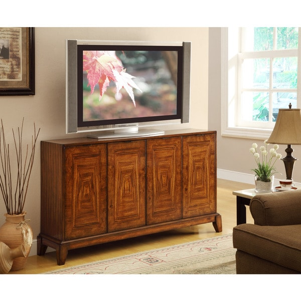 Treasure Trove Accents Craddock Mid Brown Four Door Media/Credenza