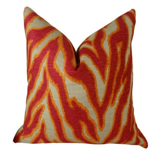Plutus Smooth Move Fuchsia Handmade Double Sided Throw Pillow