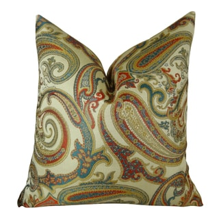 Plutus Paisley Cove Handmade Double Sided Throw Pillow