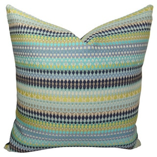 Plutus Alpenglow Turquoise Handmade Double Sided Throw Pillow