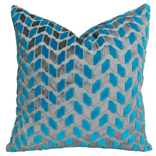 Plutus Designer Zig Zag Deep Sea Dive Handmade Double-sided Throw Pillow