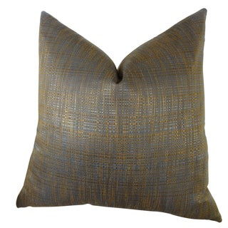Plutus Luxury Copper Brown Metallic Clonamore Handmade Double-sided Throw Pillow