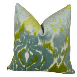 Plutus Velvet Bliss Water Handmade Double Sided Throw Pillow